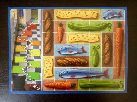 Le verso du précédent en mode avancé, les deux traces en bas à gauche, avec des grands aliments à récupérer (4/5 cases)