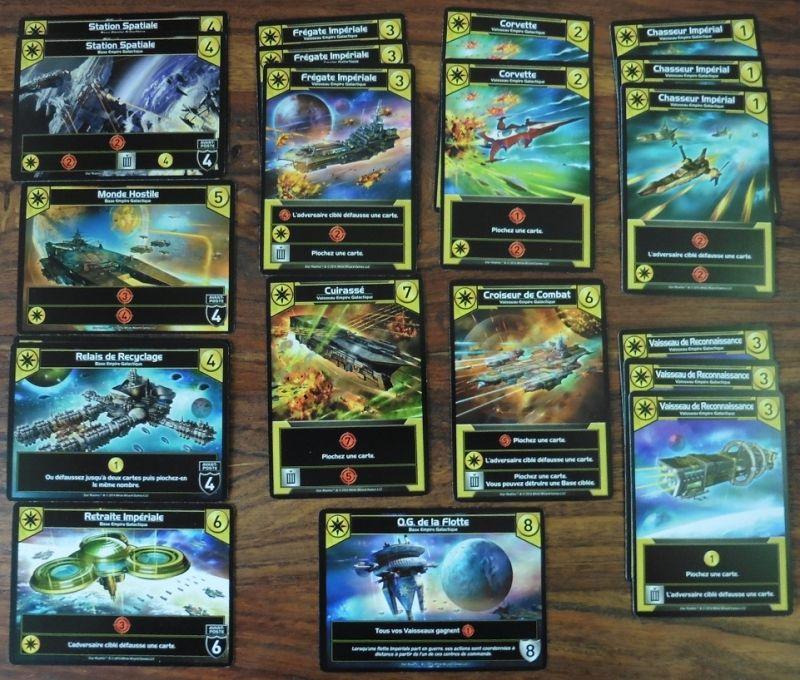 La famille jaune de l'empire galactique joue pas mal avec la pioche ou la défausse de cartes...