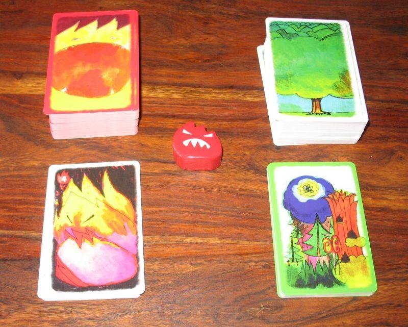 4 types de cartes : les ravages (feu), les sylvestres (forêt), les orées, et les embrasements