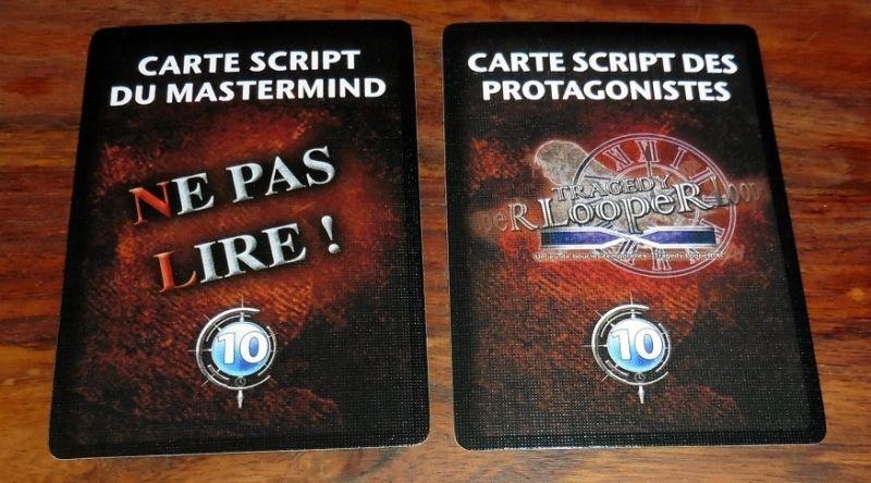 Chaque scénario est constitué de 2 cartes : 1 pour le mastermind et 1 pour les joueurs.