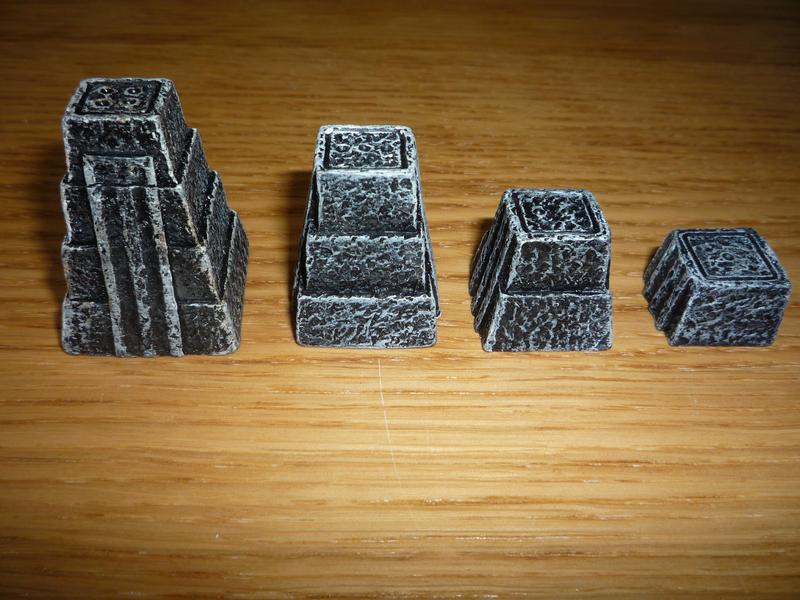 Les pyramides des joueurs.