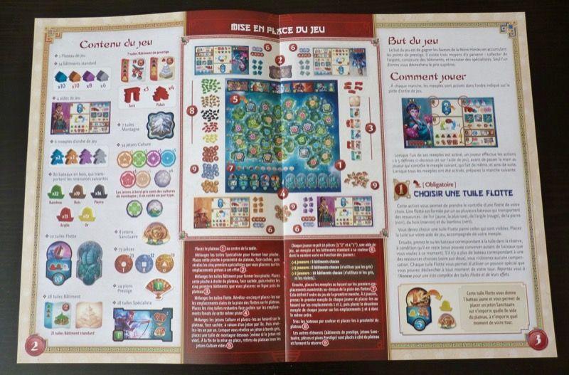 La règle du jeu toujours bien aérée chez Days Of Wonder avec beaucoup d'illustrations et d'exemples pour accompagner le texte.