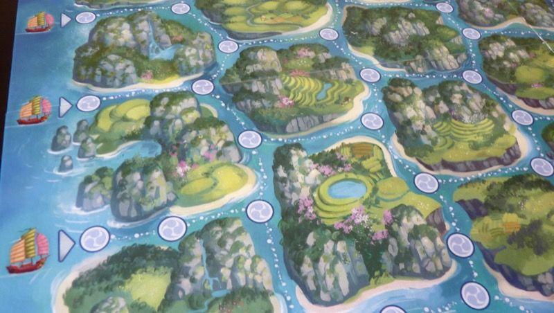 Détails du travail artistique de Jérémie Fleury sur le plateau de Yamataï.