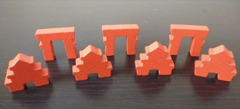 Les bâtiments de prestige : les 3 torii derrière et les 4 palais devant.