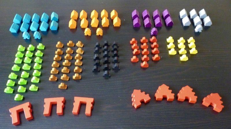 Une vue de la répartition des 127 pions du jeu.