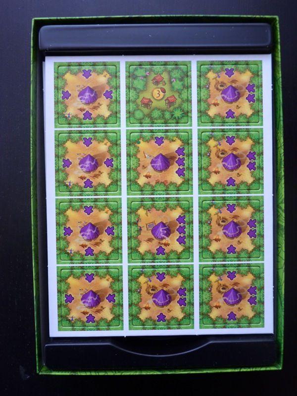 Les tuiles ouvriers du joueur violet comme dans Carcassonne mais là les meeples sont déjà sur la tuile.