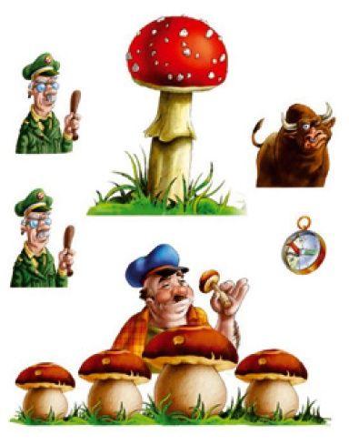 """le premier thème du jeu : """"les champignons"""""""