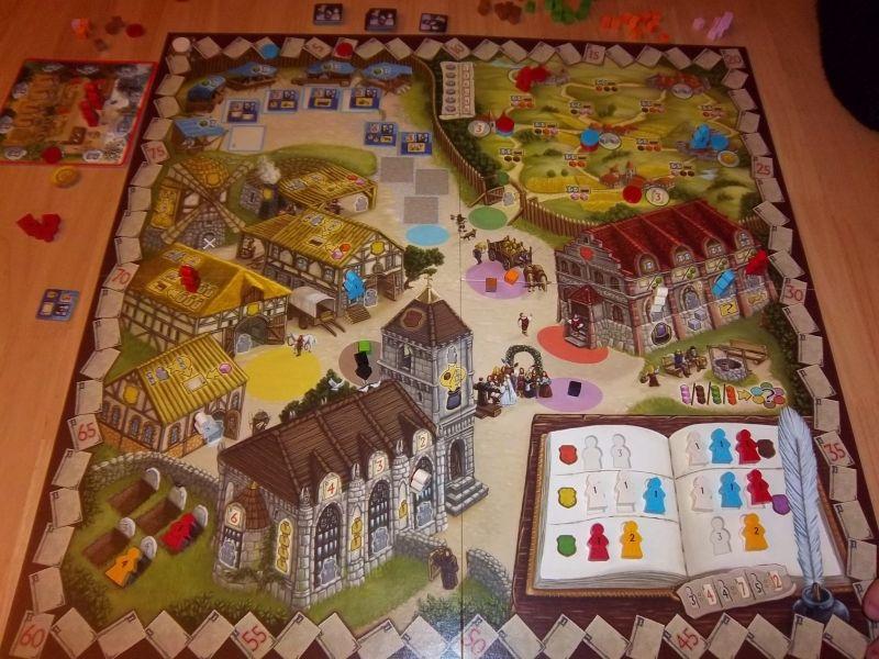 Le plateau qui représente un petit village qui pourrait bien vous séduire...