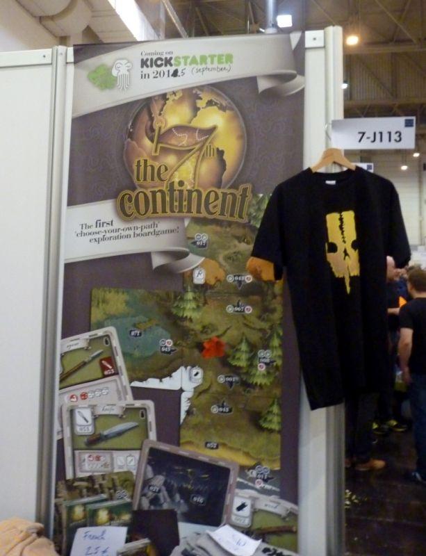 Le minuscule stand du protoype et kickstarter 7th continent
