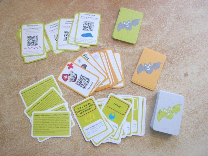 Les différentes cartes action, équipement et objectif