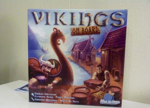Vikings On Board du trio Chevallier, Dumas et Pelemans ( Intrigo) à paraître chez Blue Orange.