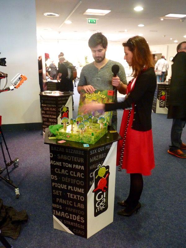 Ludovox est dans la place ! Interview et video de Mathilde Spriet la boss de Gigamic France qui présente Kullerhexe une nouveauté à venir.