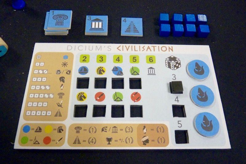Le plateau de jeu individuel... Oui je sais je joue encore avec les bleus !
