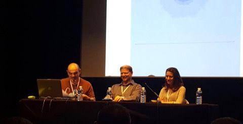 En présence de Mathilde Spriet (gigamic), Alain Rivolet (auteur) et Bruno Cathala (auteur).
