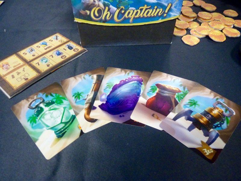 Le matériel du proto et les cartes du jeu.