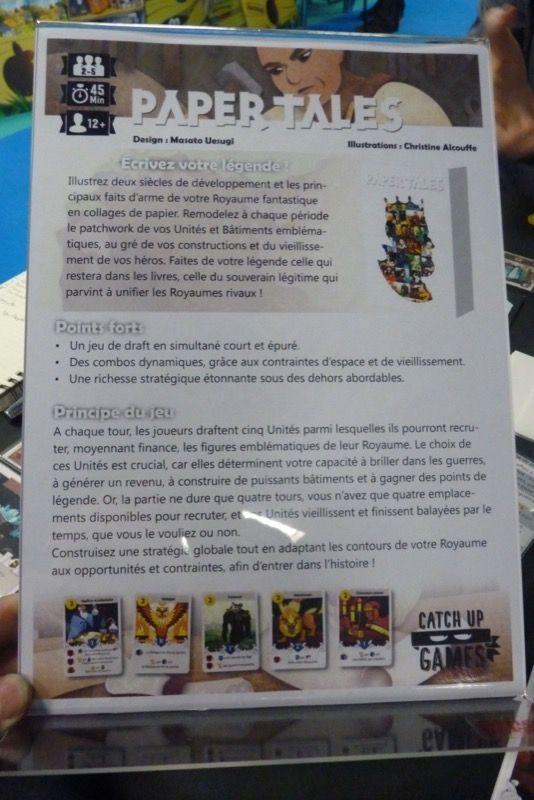 Et pour finir les découvertes de Paper Tales sur le salon on joué à Paper Tales avec Nico bientôt chez Catch Up Games.