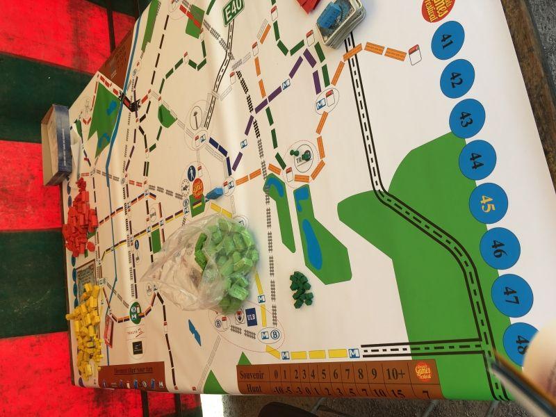 Une carte unique pour les Aventuriers du Rails : Bruxelles