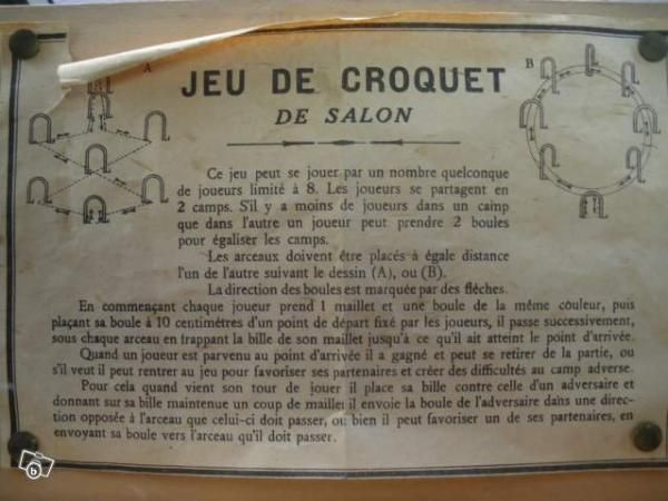 Jeu de Croquet de salon