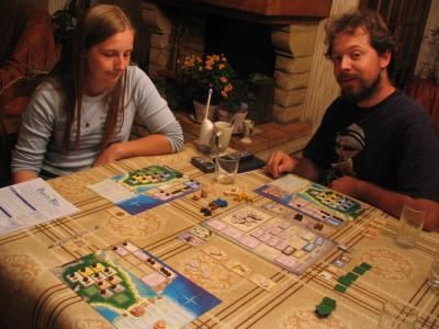 première partie de puerto rico, le premier jeu allemand joué... mémorable