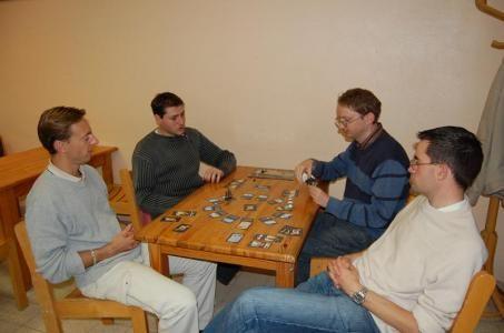 Des joueurs bien concentrés