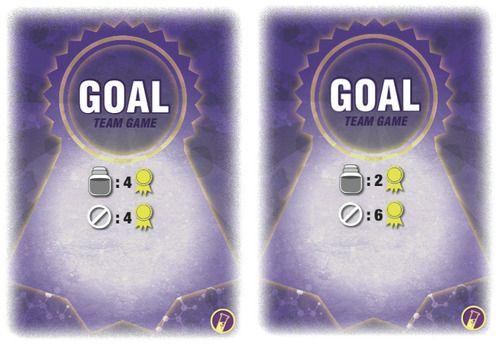 Cartes « Objectif » pour le jeu par équipe