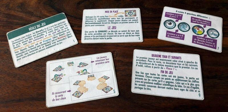 Les règles seront présentées sur de vraies cartes et sont bien sur recto/verso.