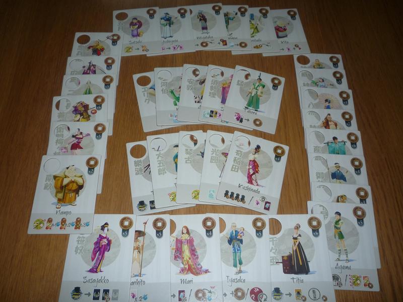 Les différentes tuiles personnages