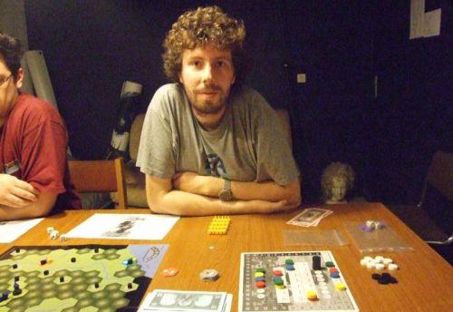 Le sourire confiant du redoutable joueur qu'est Thomas...en plus, là, il était encore en tête...