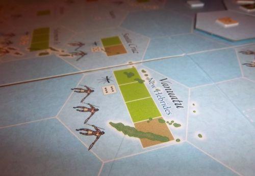 Une île qui parlera à certains : elle est bien défendue mais surtout il y a des moustiques et donc des risques de Malaria.