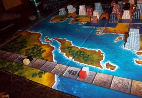 Les scores à la fin de la première période...les joueurs ont pour le moment développé l'est et le sud du plateau...