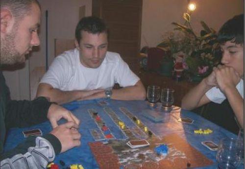 Mes trois adversaires, bien concentrés...