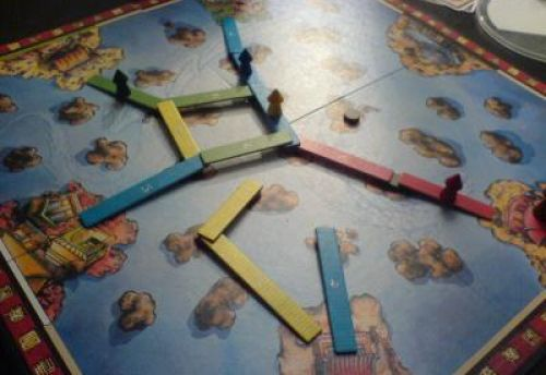 en jaune je vais sauter par dessus le bleu et gagner !