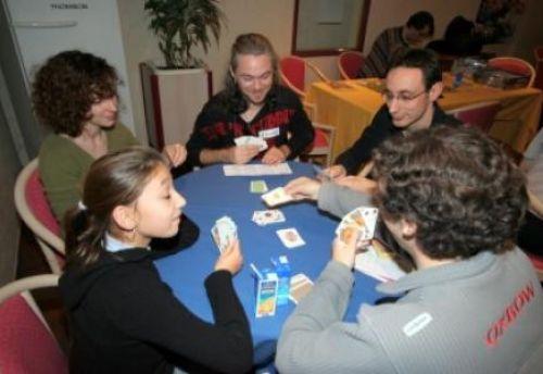 de gauche ? droite, Lady, Virginie, Stef, Guillaume et Loïc