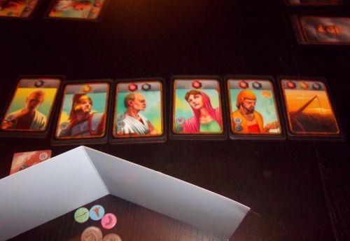 Mes cartes après 2 tours de jeu.