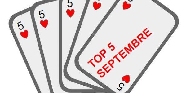 Top 5 Septembre
