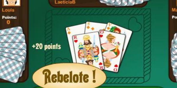 Jouer à la belote sur le net et en 100% gratuit